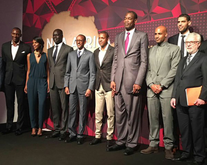 Kagame and NBA Players